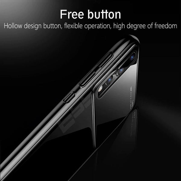 (BUY 2 GET FREE SHIPPING AND 10% OFF!!)Mirror Bare Case Ultra Thin Tempered Glass Len Case Full Protective TPU & PC Acrylic Hard Clear Case For Huawei P20 P20Pro P20Lite