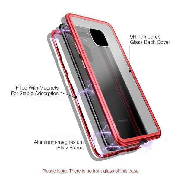 (BUY 2 GET FREE SHIPPING AND 10% OFF!!)Metal  Magnetic Adsorption Frame Clear Tempered Glass Phone Cases For Huawei Mate 20/Mate 20 Pro