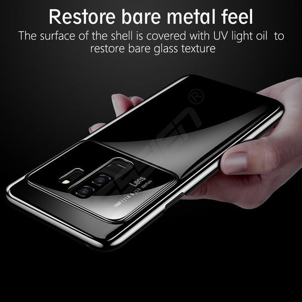 Mirror Bare Case Ultra Thin Tempered Glass Len Case Full Protective TPU & PC Acrylic Hard Clear Case For Samsung S9 S9 Plus