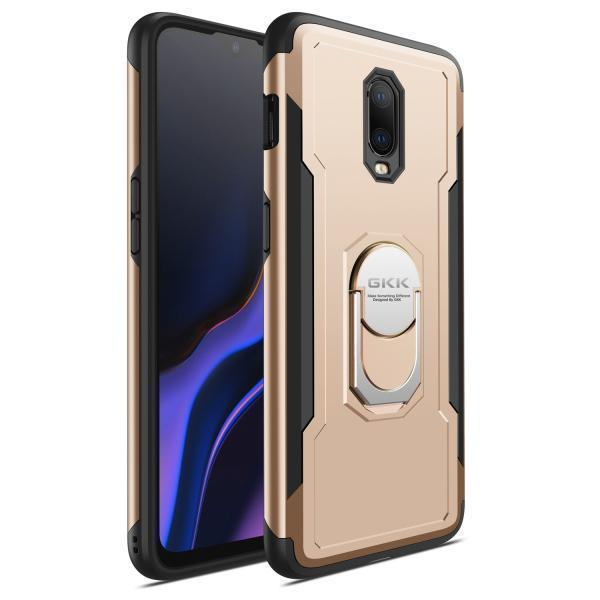 Shockproof Ring Armor Hard PC Case 2 in 1 Magnetic Bracket Phone Case for OnePlus 6T