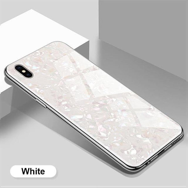 Conch Shell Candy Color Phone Case For HuaWei Case Tempered Glass For HuaWei Case Hard Cover For HuaWei P30lite/P30/P30Pro