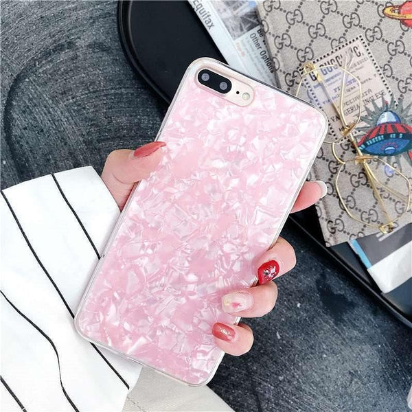 Candy Color Conch Shell Phone Case For HuaWei Case Tempered Glass For HuaWei Case Hard Cover For HuaWei Mate20lite/Mate20/Mate20Pro