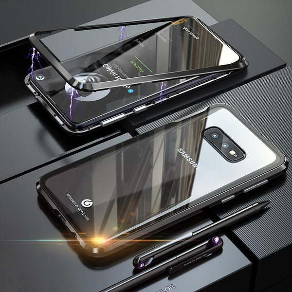 Magnetic Adsorption Transparent Tempered Glass For Samsung S10/S10PLUS/S10e Phone Case