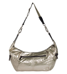 Metallic cross body bag