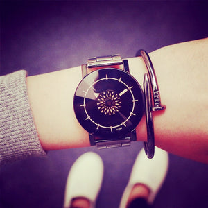 Turntable Unique quartz Lover wristwatch
