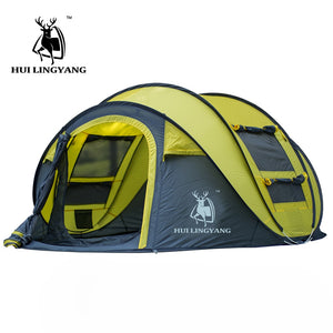 Outdoor throw & open waterproof camping tent for large family