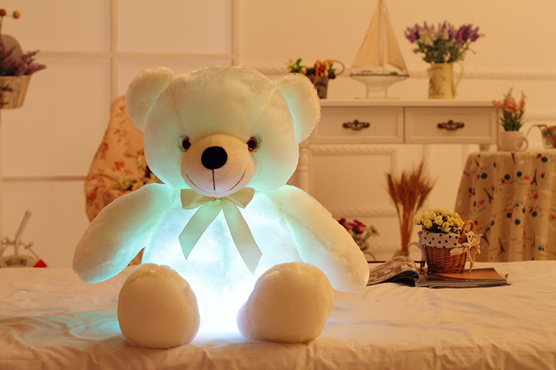 Colorful Glowing Teddy Bear for Christmas