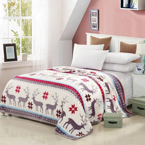 Christmas Coral fleece winter warm blanket