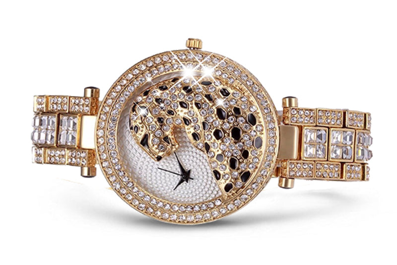 2018 Fashionable Gold Crystal Leopard Watch - Limited Edition