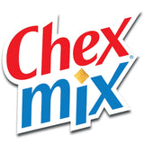 Chex Mix logo red text at top and blue text on bottom with white background