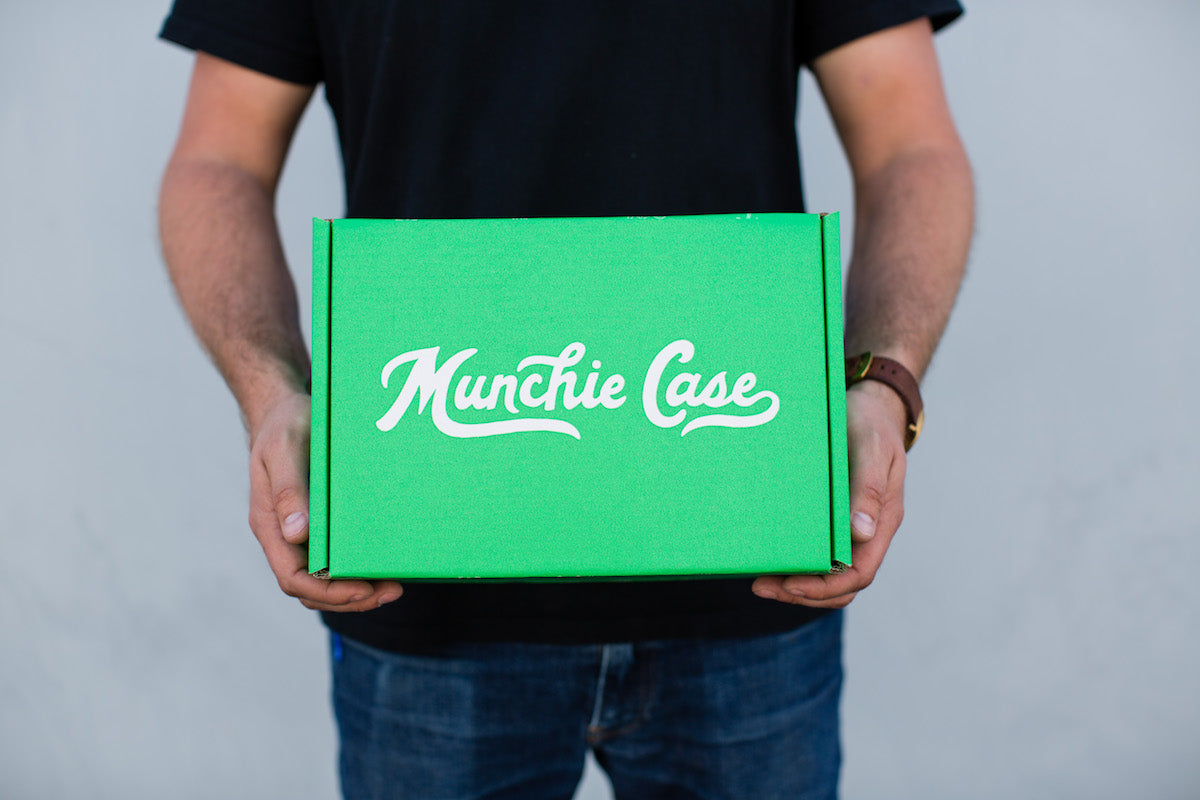 Green Snack Subscription Box Munchie Case available for delivery
