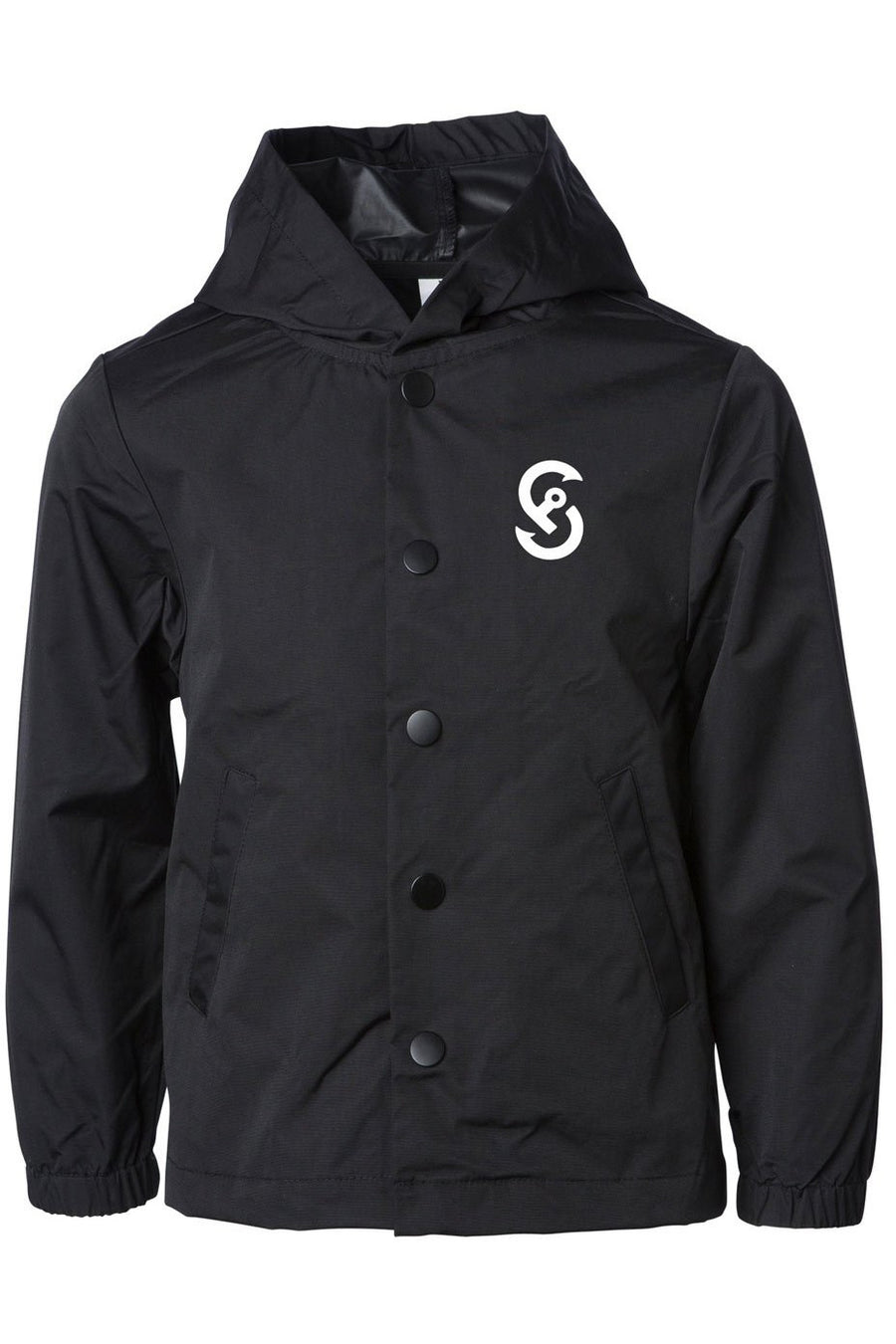 CORE WATER RESISTANT HOODED WINDBREAKER COACHES JACKET