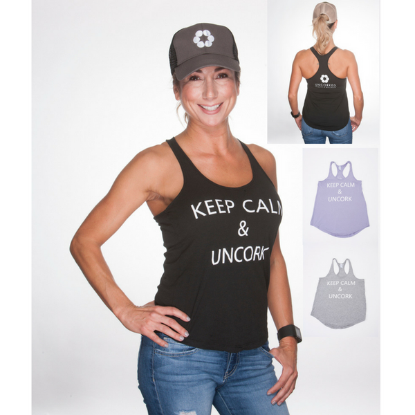 Women's Keep Calm Uncork Tank