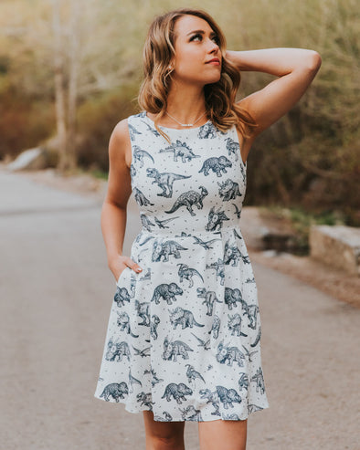 White Dinosaur Dress