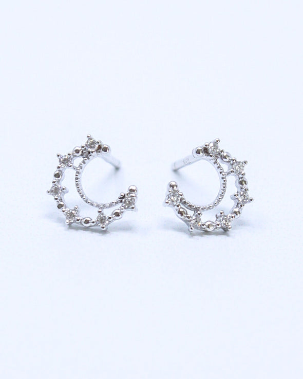 Encrusted Moon Earrings