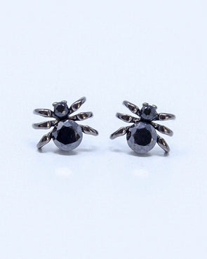 Gem Spider Earrings