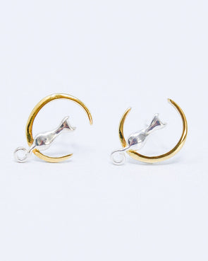 Crescent Cat Earrings