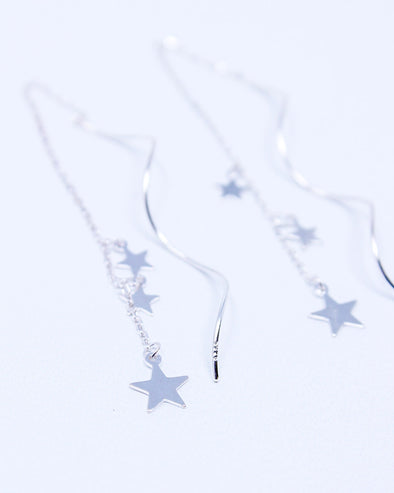 Frolicking Stars Threader Earrings