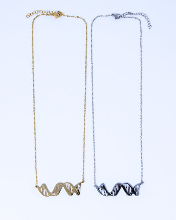 DNA Double Helix 2D Necklace