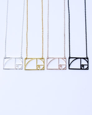 Fibonacci Square Necklace