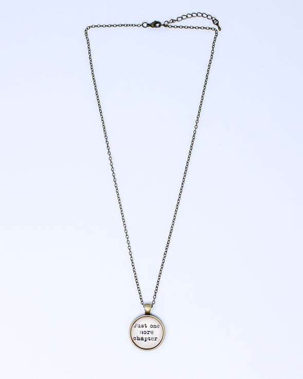 Just One More Chapter Necklace