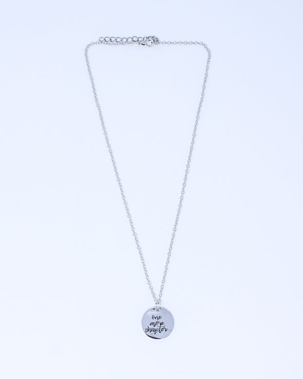 Sayings Necklace - One More Chapter