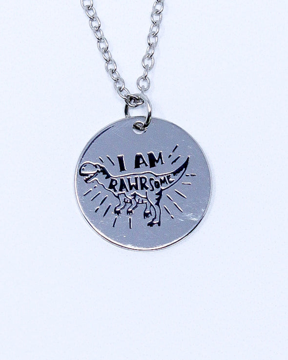 Sayings Necklace - I Am RAWRsome