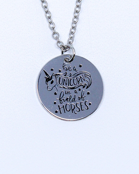 Sayings Necklace - Be A Unicorn
