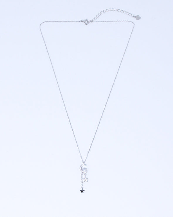 Moon Star Dangle Necklace
