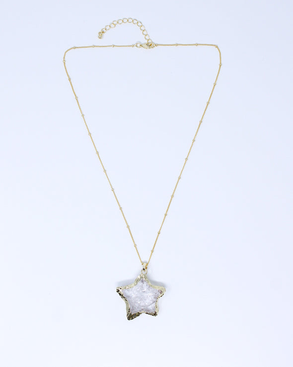Crystal Quartz Star Necklace