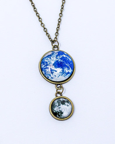 Earth & Moon Dome Necklace