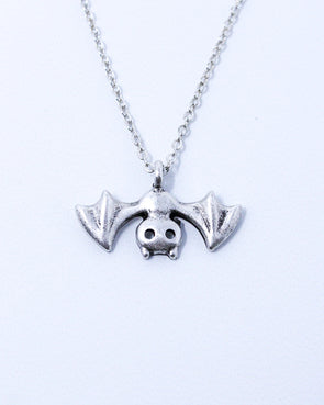 Upside Down Bat Necklace