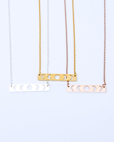 Moon Phase Cutout Necklace