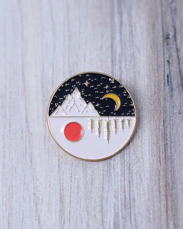 Day and Night Outdoors Pin