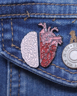 Head & Heart Pin Set