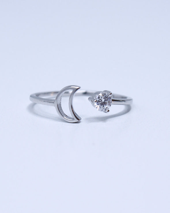 Radiant Moon & Star Ring