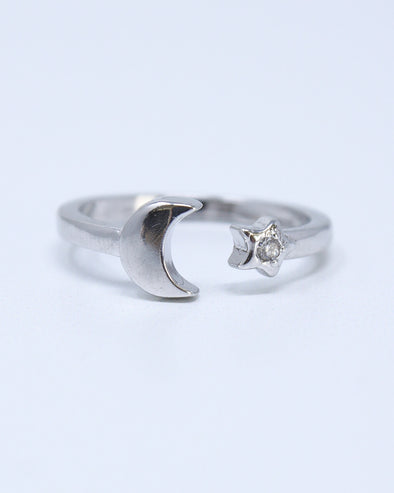 Celestial Moon & Star Ring