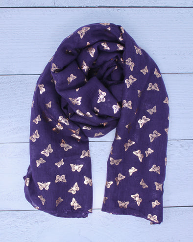 Butterfly Scarf - Purple