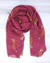 Fox Scarf - Red