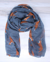 Fox Scarf - Gray