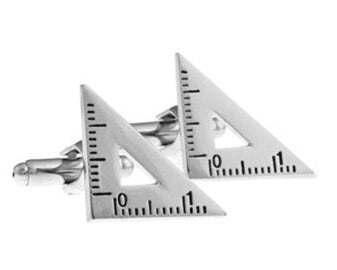 Protractor Cuff Links Angled