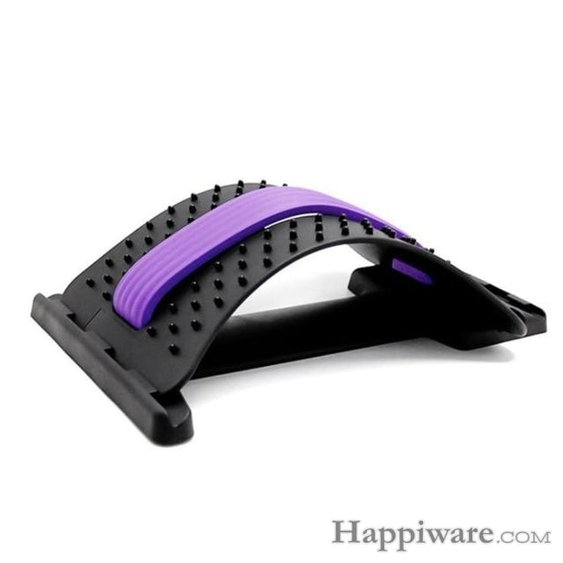 1PC Back Stretch Equipment Massager - Purple