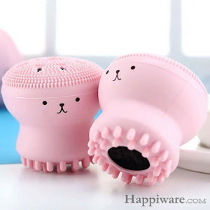 1PCS Lovely Pink Jellyfish Shaped Silicone Octopus Face