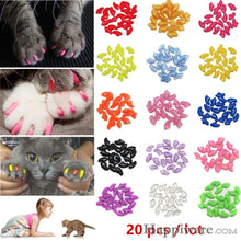 Load image into Gallery viewer, 20 PCS Soft Silicone Cat Nail Caps