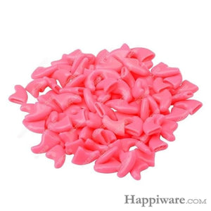 20 PCS Soft Silicone Cat Nail Caps - Pink / XS 0.5 to 2.5kg cats