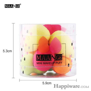 Cosmetic Various Make Up Sponge Beauty Tool With Box - 10 pcs