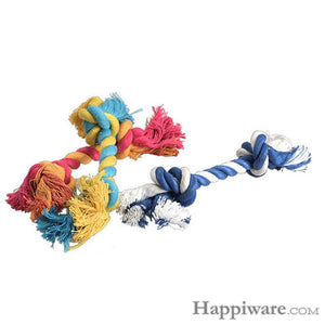 Puppy Cotton Chew Knot Toy Durable Braided Bone Rope