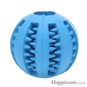 Puppy Elasticity Tooth Cleaning Balls Toys For Dogs - Dark Blue / 5 cm