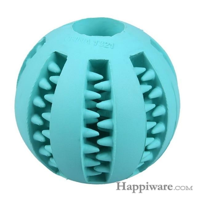 Puppy Elasticity Tooth Cleaning Balls Toys For Dogs - Light Blue / 5 cm