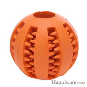Puppy Elasticity Tooth Cleaning Balls Toys For Dogs - Orange / 5 cm